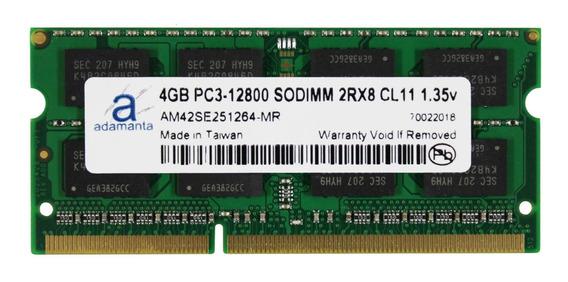 Memoria Ram 4gb Adamanta (1x4gb) Upgrade Compatible Para Hp Elitebook Pavilion Probook Zbook Ddr3l 1600mhz Pc3l-1