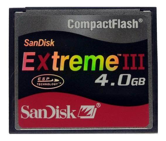 5 Cf Cartões Compact Flash Sandisk 4gb Sdcfb-4096-a10 Tlc