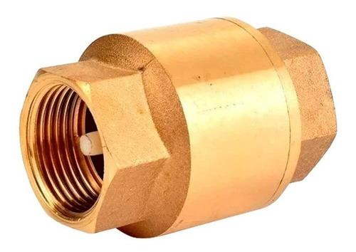 Válvula Retenção Vertical Latão Importado 1/2 Tec Flux Hidro