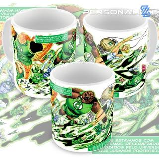Caneca Lanterna Verde Quadrinhos Hq Dc Comics Modelo 01 M