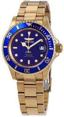 Relógio Invicta 26974 Pro Diver 40 Mm Azul Dourado