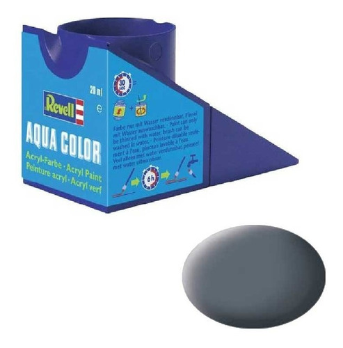 Tinta Acrílica Dust Grey Mat Ral 7012 18ml Revell 36177