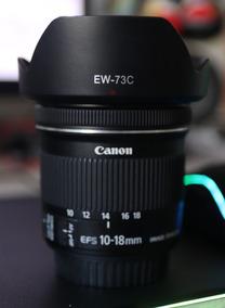 Canon Ef-s 10-18mm F / 4.5-5.6 Is Lente Stm Com Quebra Sol