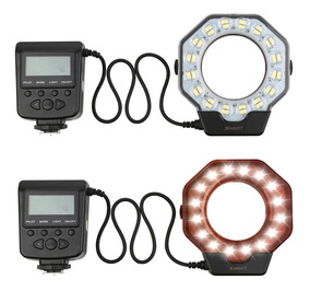 Flash Circular Macro Led Xt-103c P Canon Nikon Sony Fuji +nf