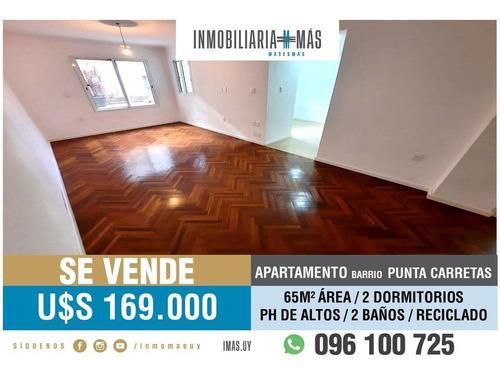 Imagen 1 de 14 de Apartamento Alquiler Ph De Altos Punta Carretas Imas.uy Lc *