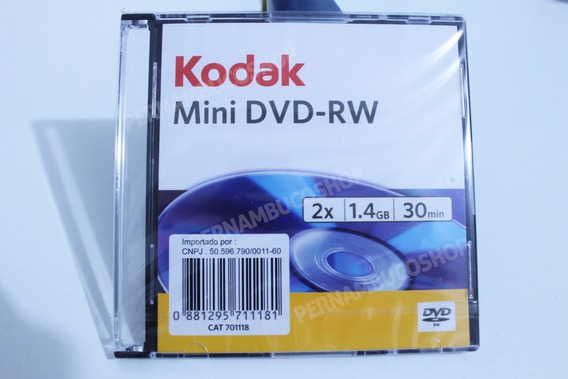 Mini Dvd - Rw Kodak Regravável