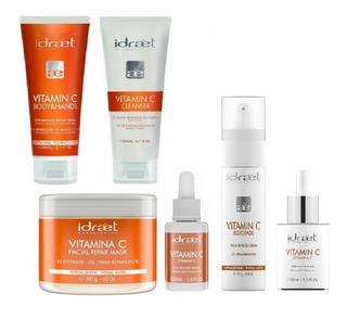 Kit 6 Productos Vitamina C Idraet Completo Facial Y Corporal