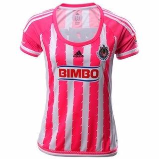Remate Jersey Oficial adidas Chivas Dama Rosa 15-16