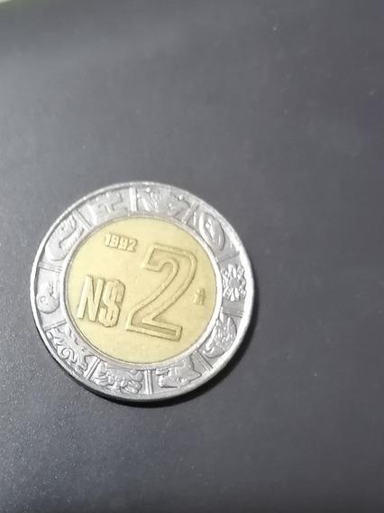 Moneda De 2 Nuevos Pesos Mexicanos 1992