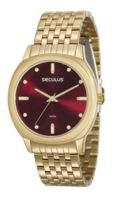 Relógio Feminino Seculus 20565lpsvds1, C/ Garantia E Nf