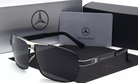 Óculos De Sol Mercedes Benz 722 Black Lentes Polarizada