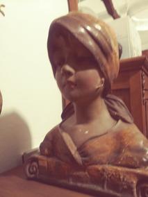 Busto Antigo Em Terra Cota