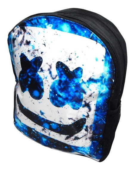 Dj Marshmello Blue Mochila Backpack Mascara Marshmallow