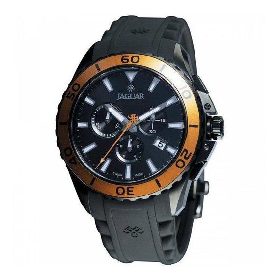 Relógio Jaguar J01cabp02 P1px Pulseira Preta Mostrador Preto