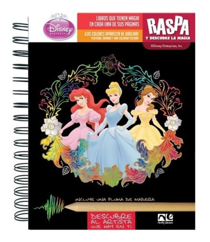 Imagen 1 de 1 de Libro Actividades Raspa Y Descubre Niña Disney Princesas