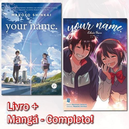 Your Name Light Novel + Mangá! Obra Completa! Novo E Lacrado