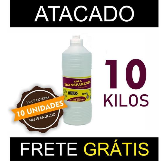 Kit Cola Clear Glue Slime 10kg - Atacado - Frete Grátis