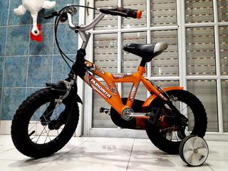 Bicicleta Bmx Aurorita Igual A Nueva Con Rueditas Rod 12