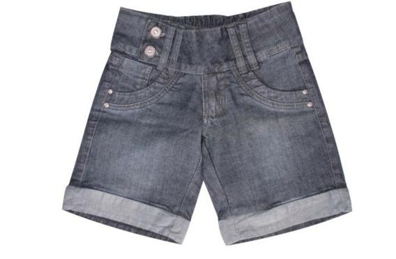 Short Jeans Feminino Com Detalhes