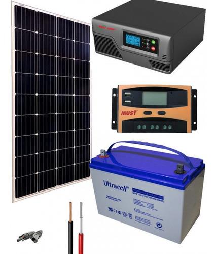 Planta Solar 300 Watt Kit Solar Basico Casa, Camping, Finca