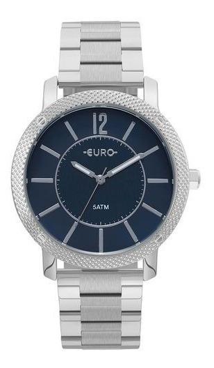 Relógio Euro Feminino Texturas Prata - Eu2036ymi/3a