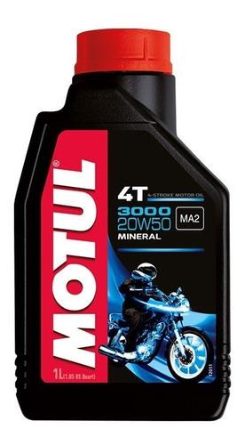 Aceite Motul 3000 4t 20w50 Mineral Moto 1 Litro - Tyt