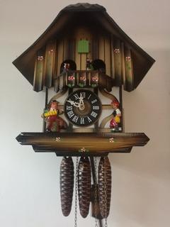 Reloj Cucu Aleman Con Bailarines, 3 Pesas. Vhcf