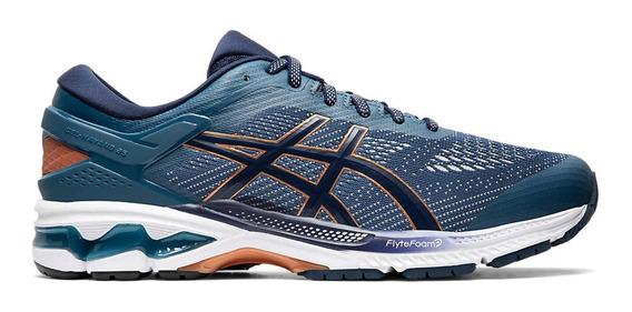 Zapatillas Hombre Asics Gel Kayano 26 Azul/naranja - Running