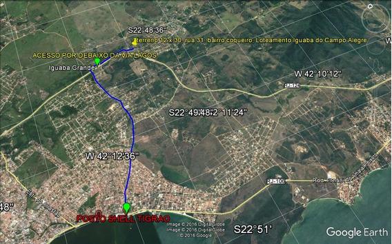 Ótimo Terreno 12x30(360 M²), A Três Km Da Lagoa De Araruama.