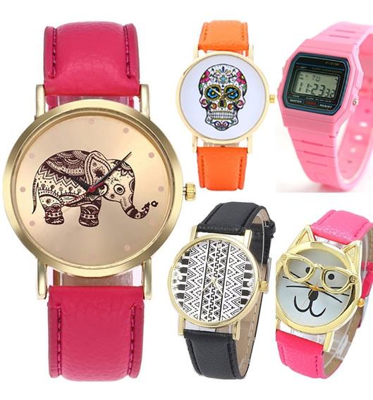 Relojes Mujer Baratos Mayoreo Caballero Parejas Moda Pz