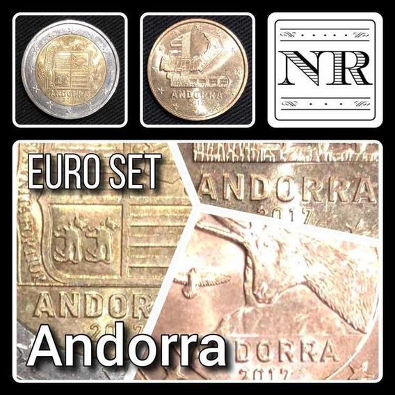 Andorra - Euro Set - 8 Valores - Km # Varios - 2 Bimetalicas