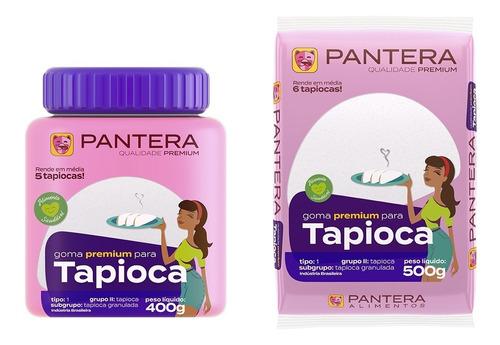 Imagem 1 de 6 de Tapioca Pote 400g + Tapioca 500g Saquinho Pantera Alimentos
