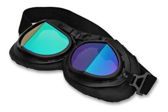 Óculos Goggle Aviador Old School Vintage Capacete Aberto