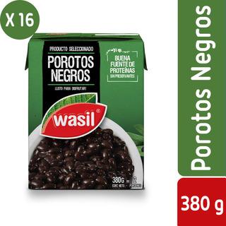 Pack 16 - Wasil Caja De Porotos Negros Listos 380 G