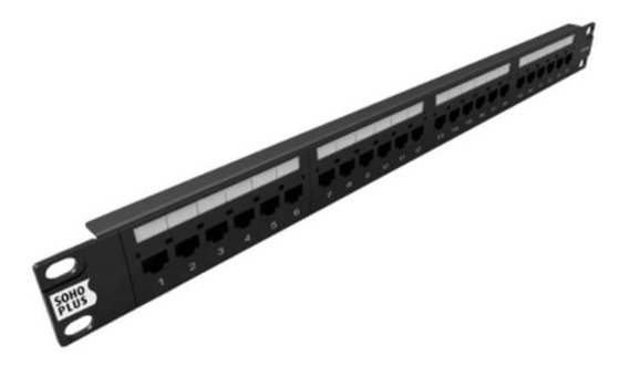 Patch Panel 24 Portas Cat6 Furukawa Soho Plus Categoria 6