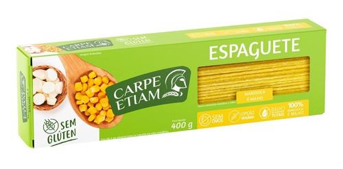 Espaguete Zero Glúten Mandioca E Milho 400g Carpe Etiam