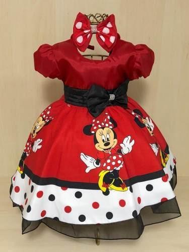 Vestido Minnie Vermelha Super Luxo
