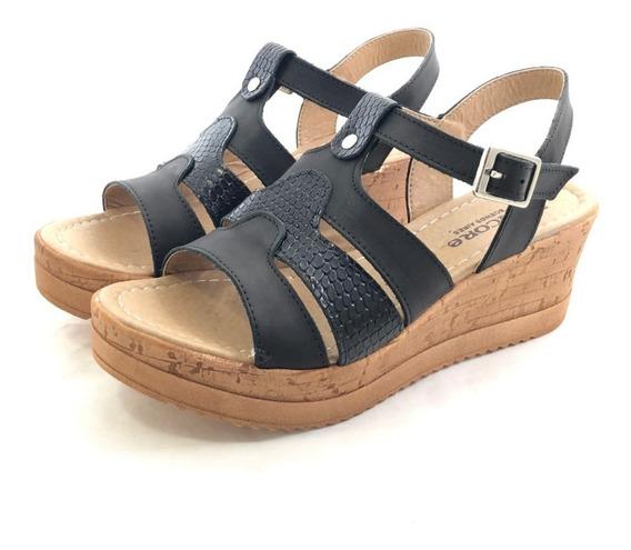 Encore 3017 Sandalia Cuero El Mercado De Zapatos!!