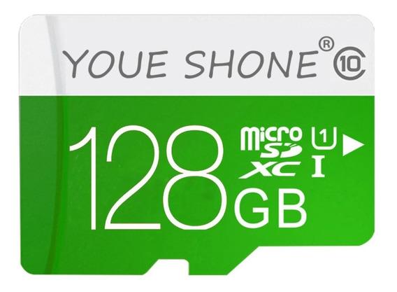 Cartão Micro Sd Ys 128gb Classe 10 + Adaptador Sd Card