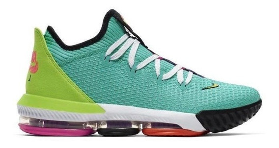 Tenis Nike Lebron James 16 Xvi Low Hyper Jade Basquetbol