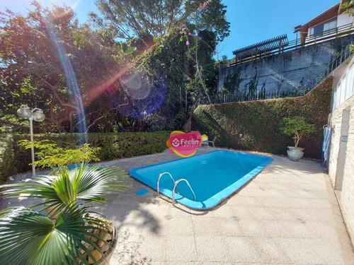 Imagem 1 de 30 de Casa Com 5 Dormitórios À Venda, 350 M² Por R$ 1.500.000,00 - João Paulo - Florianópolis/sc - Sc - Ca0191_feelin