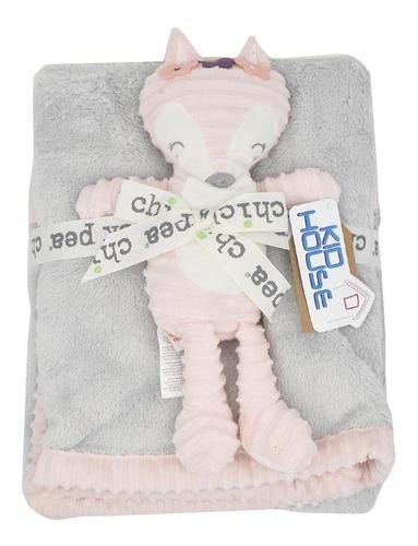 Imagen 1 de 1 de Cobertor Con Muñeco De Apego-niña