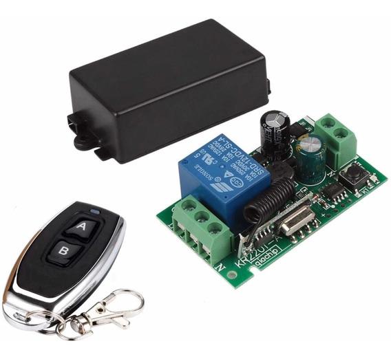 Módulo Relé Rf 110v - 220v 10a + Controle Remoto Rf 433mhz