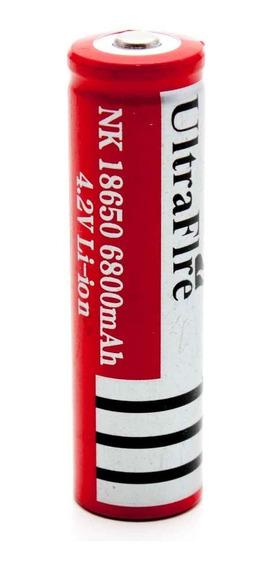 Bateria Recarregavel Ly 18650 6800mah 3,7v Lantena Led