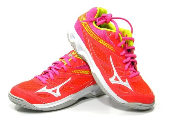 Tenis Mizuno Thunder Blade Rosa Feminino Tam: 34 A 39