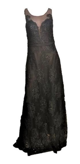 Vestido De Gala Largo Negro Casamientos Recepciones