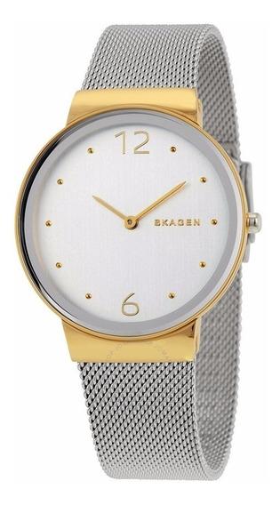 Relógio Skagen Ladies Signatur Dourado/prata - Skw2381