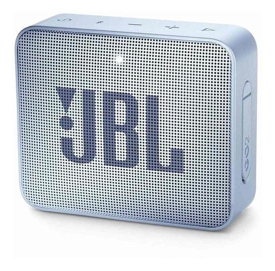 Caixa de som JBL GO 2 portátil Icecube cyan