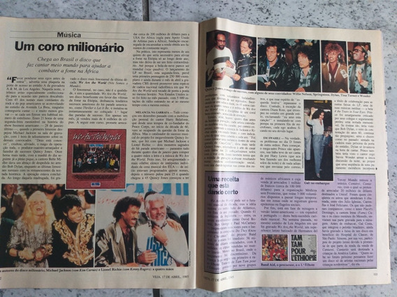 3 Revistas Veja Ano 1984 Michael Jackson We Are The World