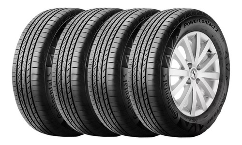 Kit X4 Neumaticos 195/65r15 91h Continental Power Contact 2